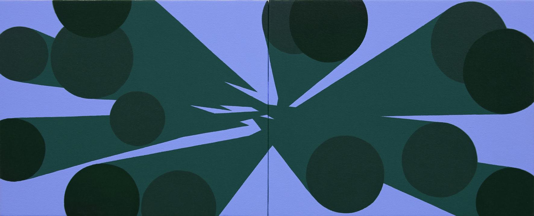 Memorias Imaginadas, 2014, acrílico sobre lienzo, 33 x 82 cm.
