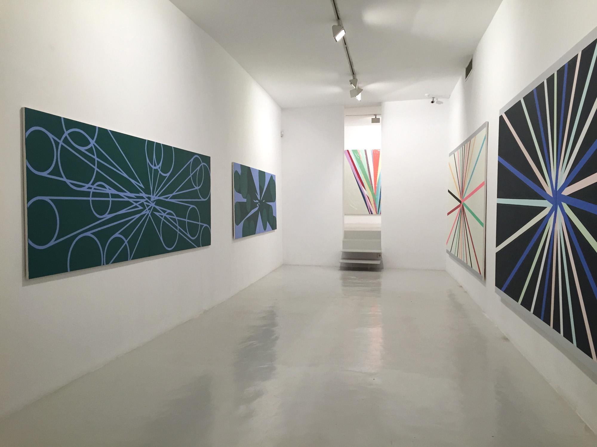 Vista de la exposición Memorias Imaginadas en la Galería de Palma, 2016
