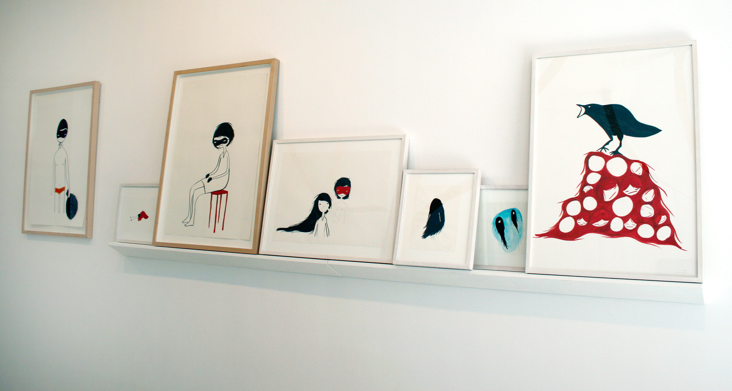 Series 'Lasting Impressions', 2007, mixed media on paper, variable measures installation.
