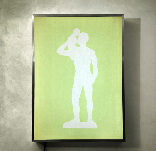 Standing Father and Child, (ed.3), 2008, light box, 107 x 77 x 15 cm.