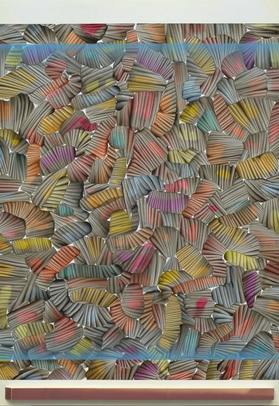 Compacto de pinturas miercoles de ceniza, 2015, acrilico sobre lienzo, 197 x 135 cm.