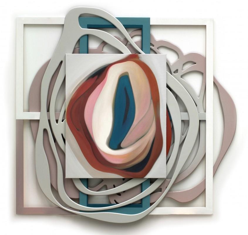 Autorretrato de la carne, 2009, acrilico sobre lienzo, DM y madera, 175 x 180 cm.