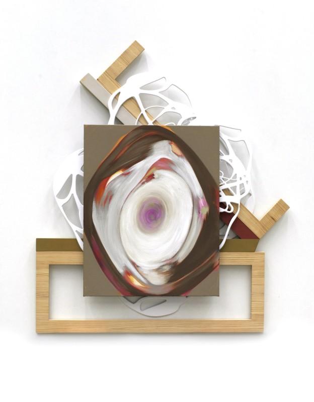 Ma�ana tu seras mi vida, ma�ana tu seras mi muerte, 2012, acrilico sobre lino, madera y pvc, 161 x 1