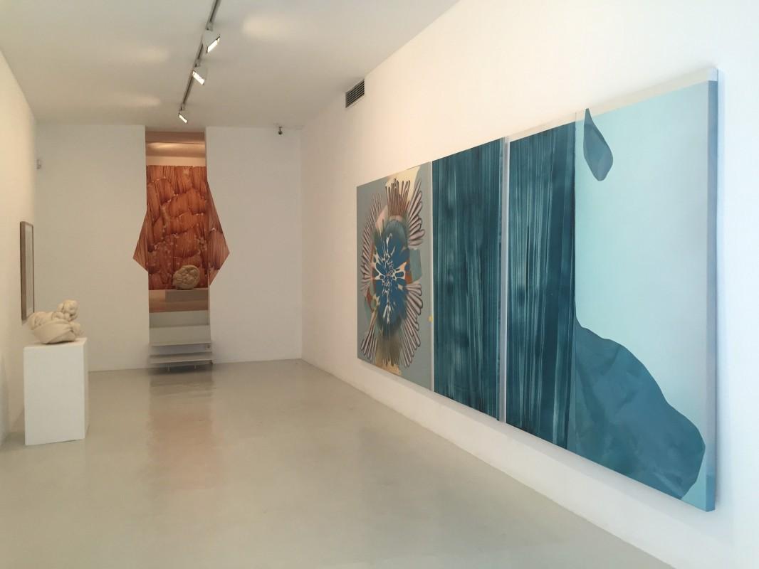 Vista de la exposicion de Daniel Verbis en la Galeria Maior de Palma, septiembre 2016