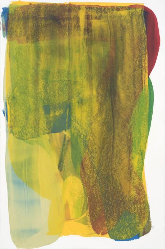 Espelho 01, 2017, esmalte industrial sobre papel, 154 x 104 cm.