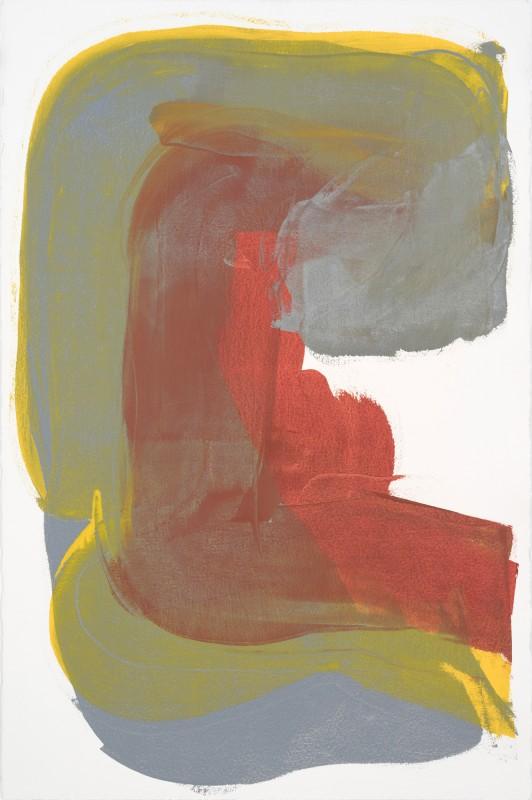 Espelho 04, 2017, esmalte industrial sobre papel, 154 x 104 cm.