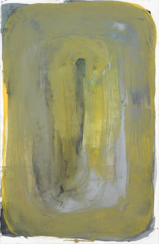 Espelho 02, 2017, esmalte industrial sobre papel, 154 x 104 cm.