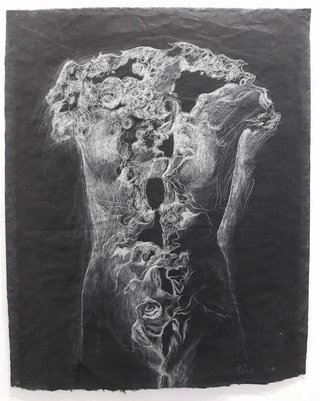 Venus rajada, 2017, lapiz sobre papel Kozu