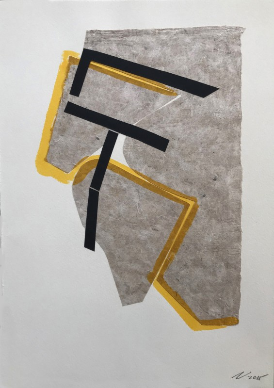 Sin t�tulo, 2015, collage y tinta china, 34,8 x 25 cm.