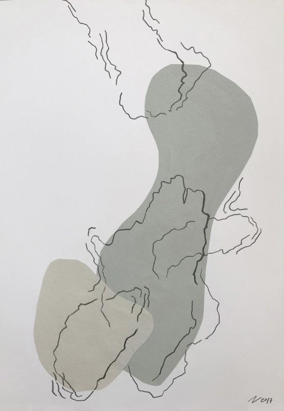 Sin t�tulo, 2017, collage y grafito, 50 x 35 cm.