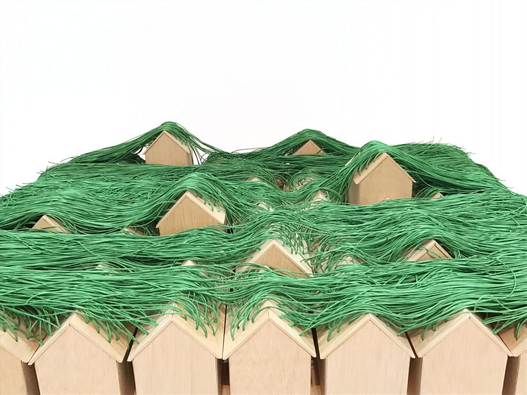 Green huts, 2017, tecnica mixta, medidas variables