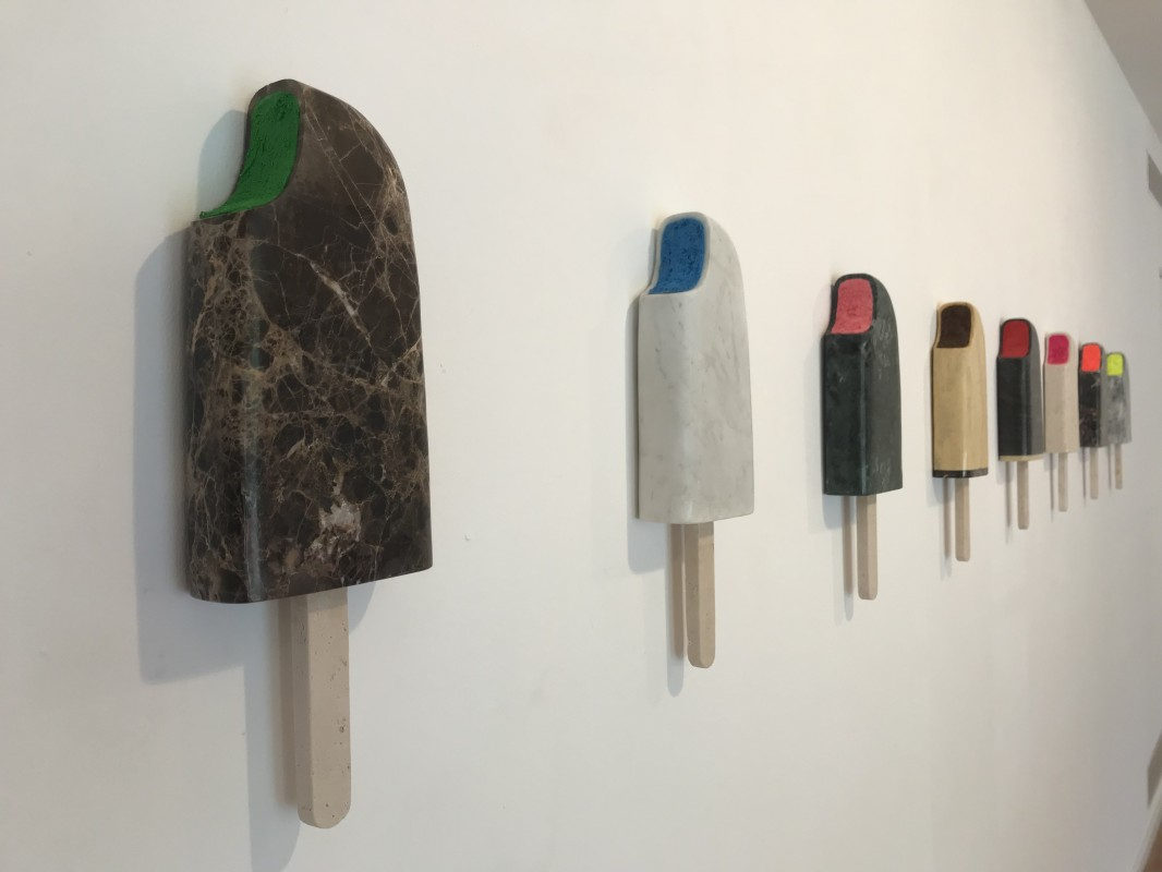 Coleccion Helado, 2017, marble and resin, 40 x 13 x 4,5 cm.
