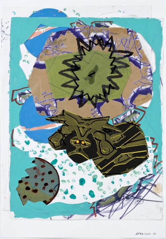 S/T, 2011, mixta sobre papel, 89 x 62 cm.