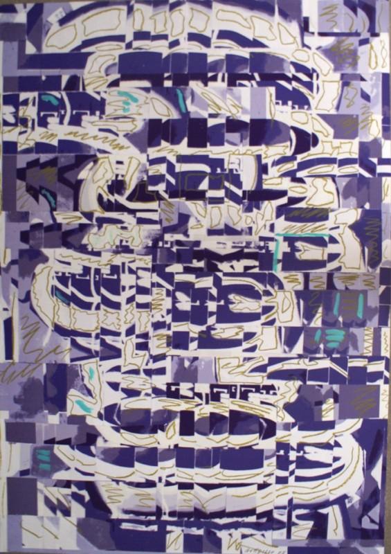 S/T, 2008, mixta sobre papel, 100 x 70 cm.