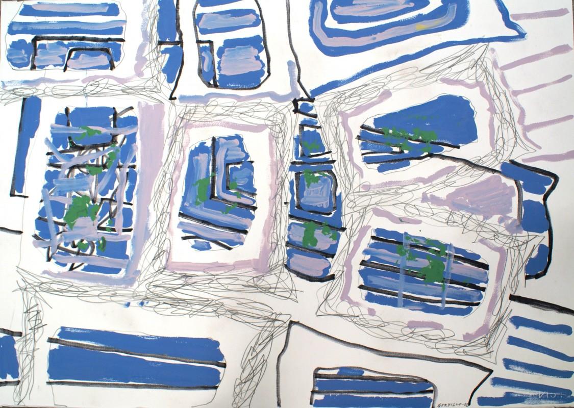 S/T, 2002, mixta sobre papel, 70,5 x 100 cm.