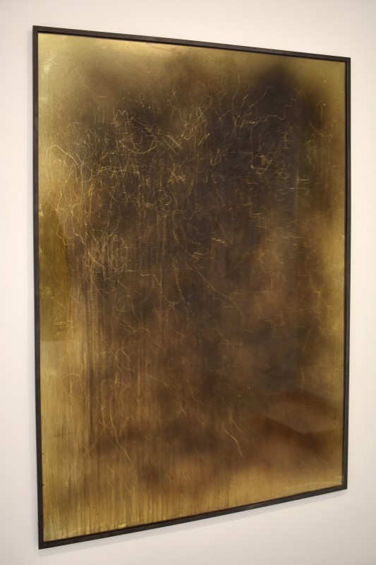 Mystical Vandalism XXVI, 2019, perspex urethane paint, mirror perspex and steel, 170 x 116 x 3 cm.
