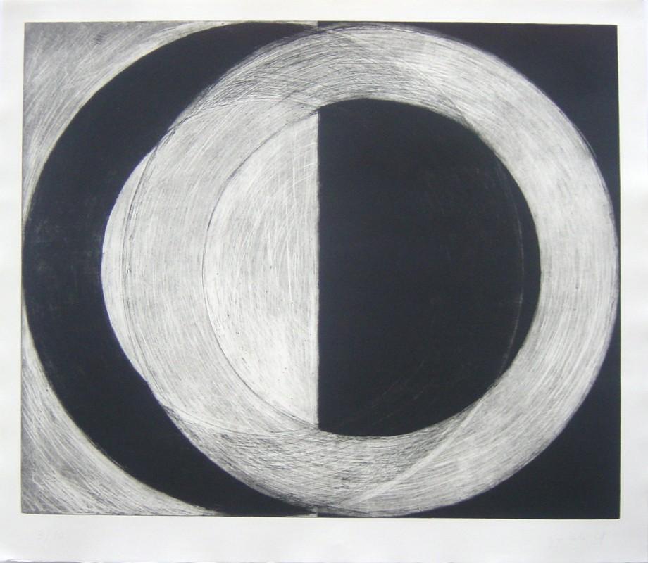 S/T, 1997, aguafuerte, 112 x 129 cm.