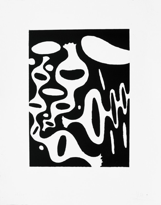 Javier G., 1995, aguafuerte, 64 x 50 cm.