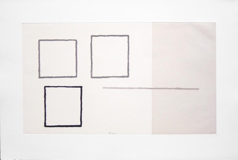 Jurgen Partenheimer. Senders de Llum, 2000, aguafuerte y aguatinta, 47 x 72 cm.