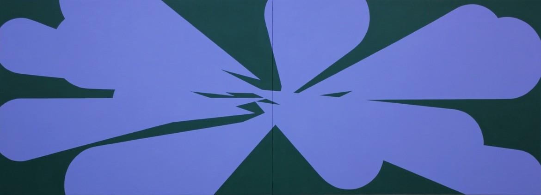 Memorias Imaginadas, 2014, acrilico sobre lienzo, 114 x 325 cm.