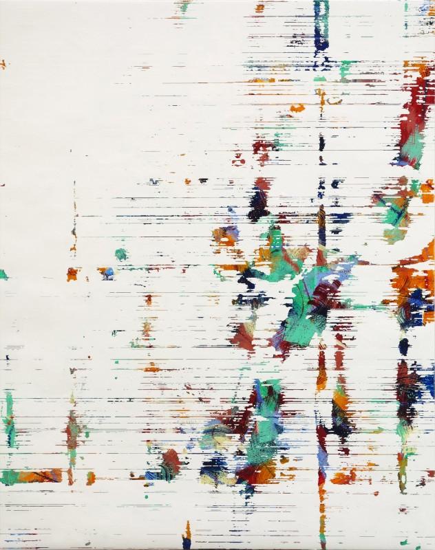 Wall #10, 2019. Oil on canvas, 153 x 122 cm.