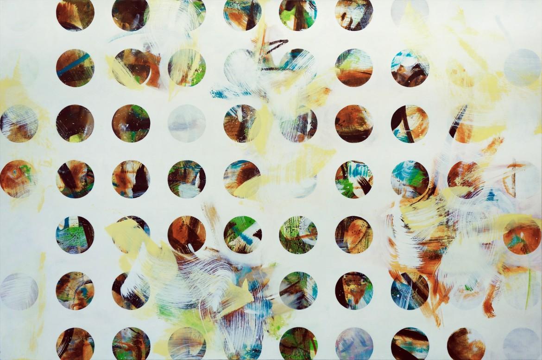 Screen #1, 2016. Oil on canvas, 123 x 185 cm.