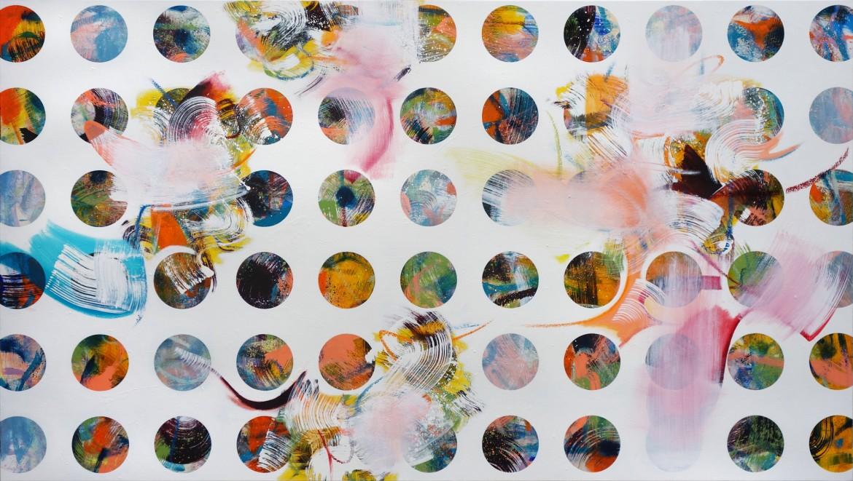 Screen #5, 2017. Óil on canvas, 112 x 198 cm.
