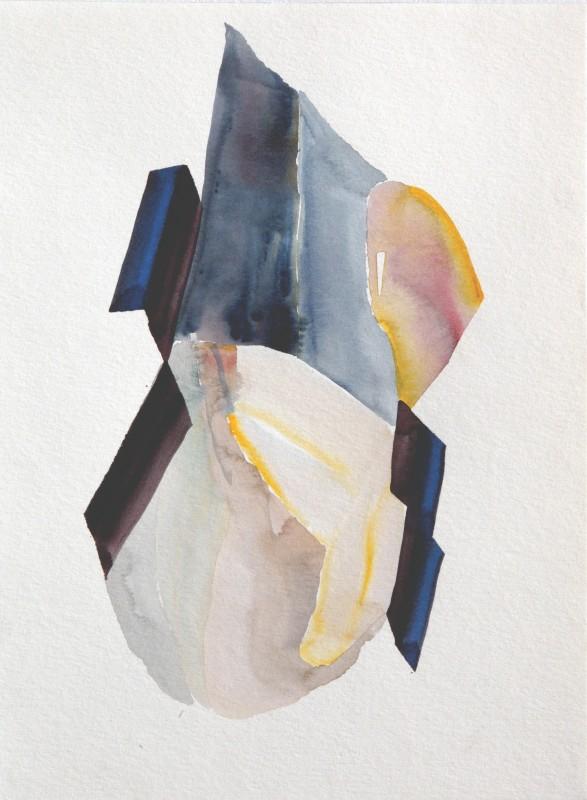 Ventana rota, 2017, acuarela sobre papel, 31 x 23 cm.