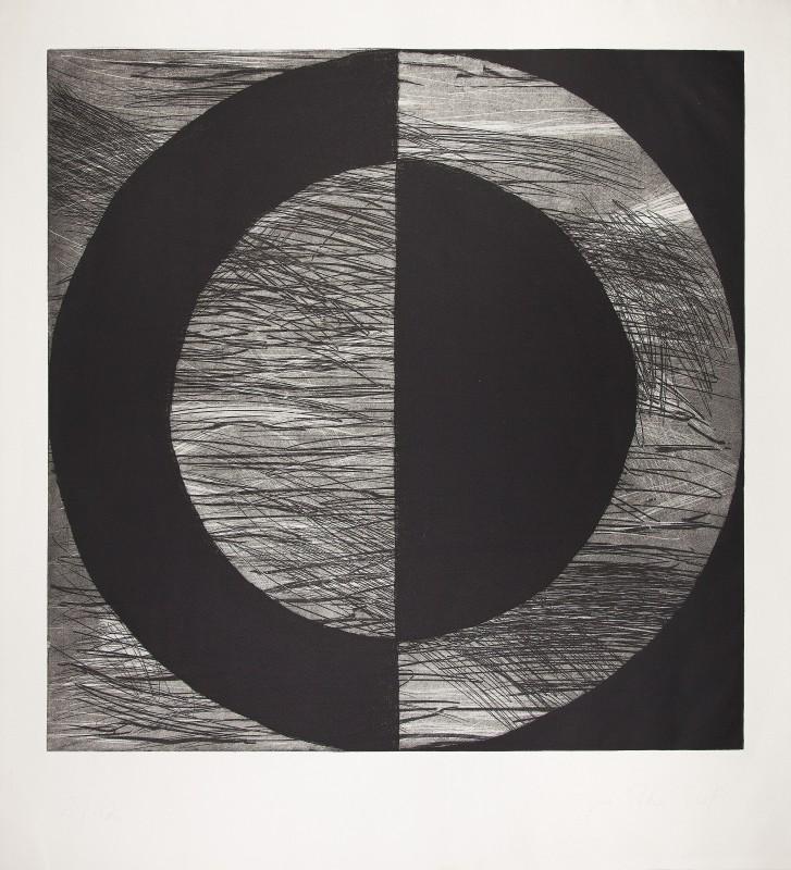 Jose Pedro Croft. S/T, 1997, aguafuerte, 124 x 112,5 cm.