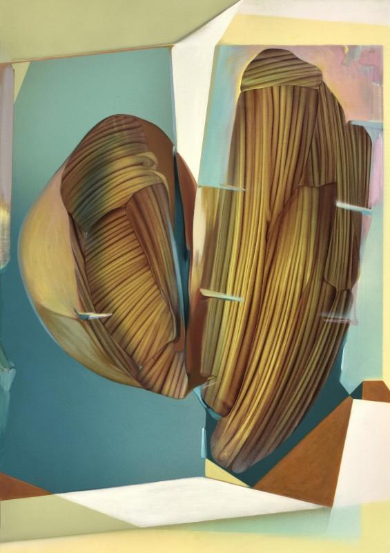 Daniel Verbis. Humbert, Humbert, 2017, acrilico sobre lienzo, 135 x 95 cm.