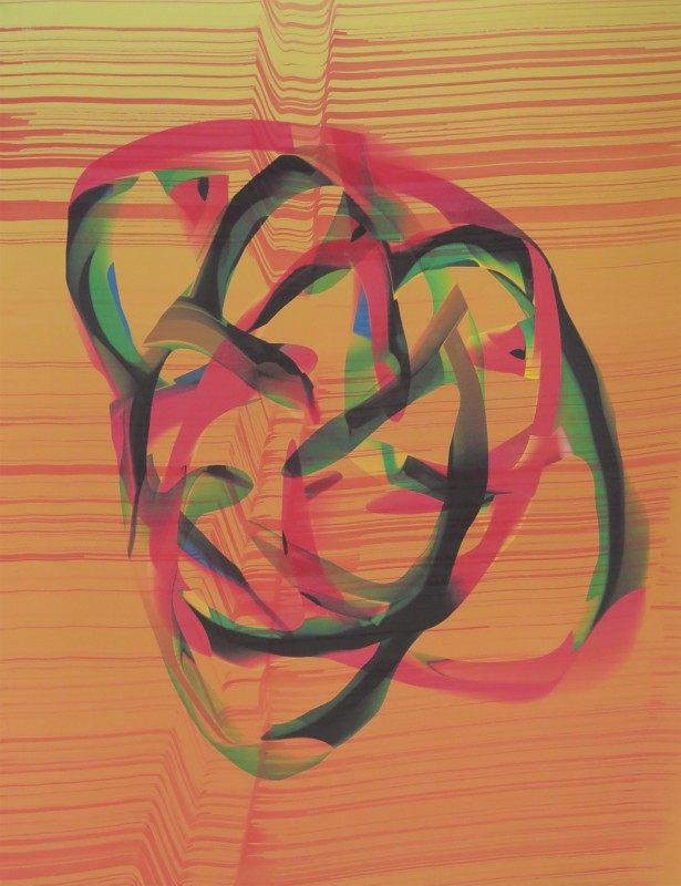 Broto. Sin t�tulo D218037, 2018, tintas pigmentadas y acrilico sobre papel, 75 x 56 cm.