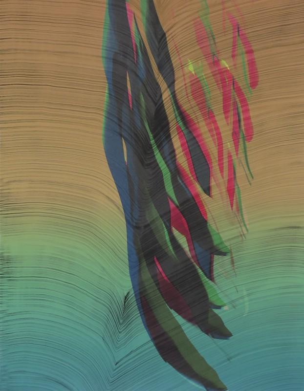 Broto. Sin t�tulo D218040, 2018, tintas pigmentadas y acrilico sobre papel, 88 x 70 cm.