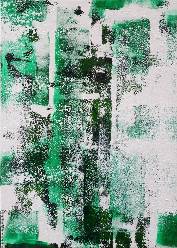 Adrian Navarro. Fragment #2 (Wall), 2019. Oleo sobre lienzo, 63 x 46 cm.