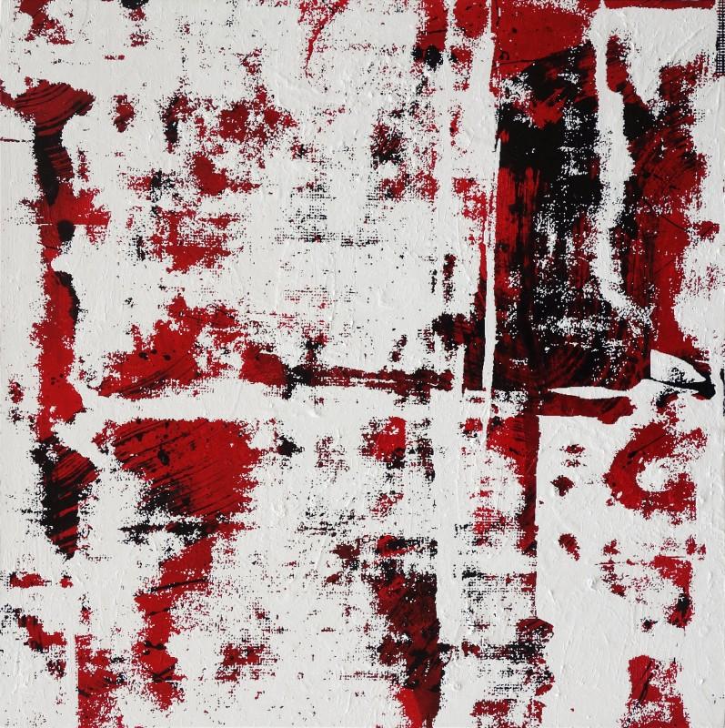 Adrian Navarro. Fragment #1 (Wall), 2019. Oleo sobre lienzo, 40 x 40 cm.