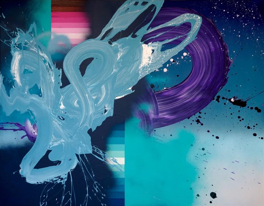 Secuencia expansiva II, 2021, acrilico sobre lienzo, 114 x 146 cm.