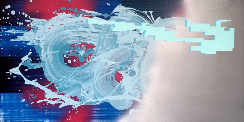 Secuencia expansiva III, 2021, acrilico sobre lienzo, 50 x 100 cm.