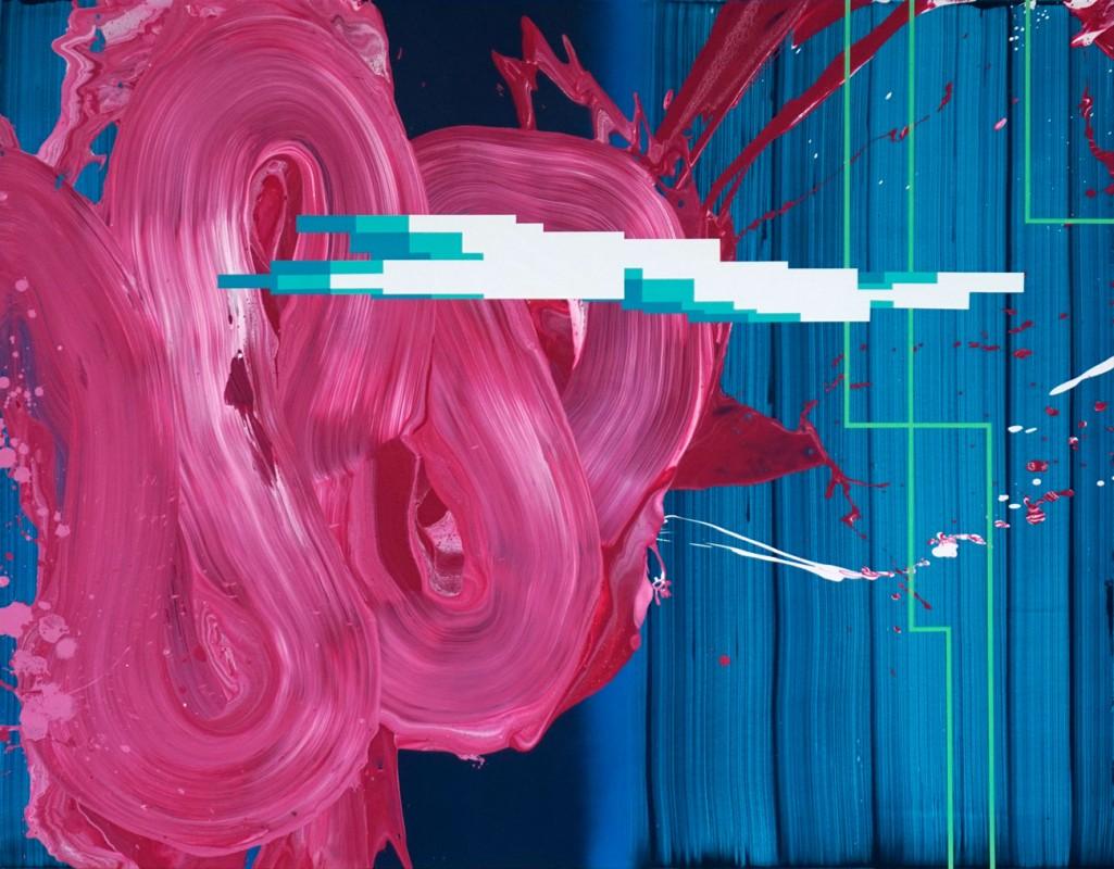 Secuencia expansiva 8, 2021, acrilico sobre lienzo, 114 x 146 cm.
