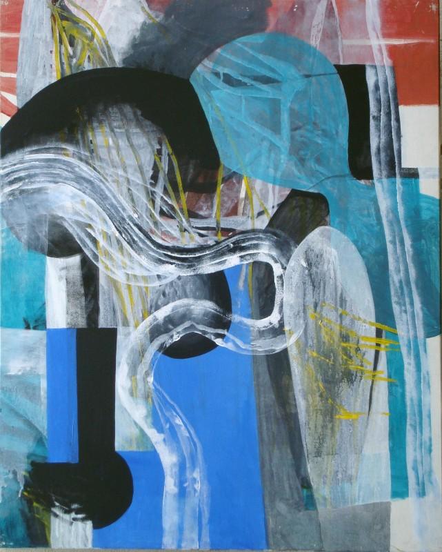 Sin titulo, 1999, acrilico sobre lienzo, 100 x 81 cm.
