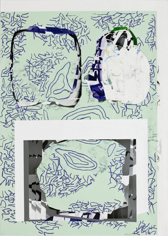 Untitled 2011, mixed media on paper, 105 x 74,5 cm.