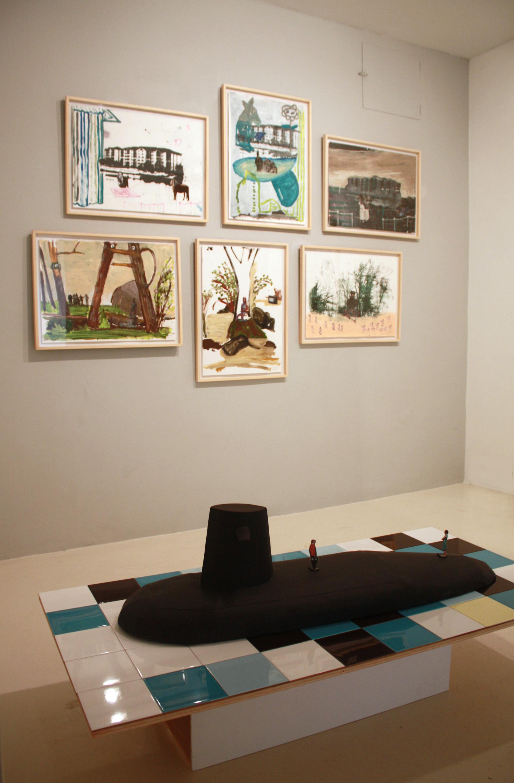 Vista de la exposición en la Galería Maior de Palma, 2012