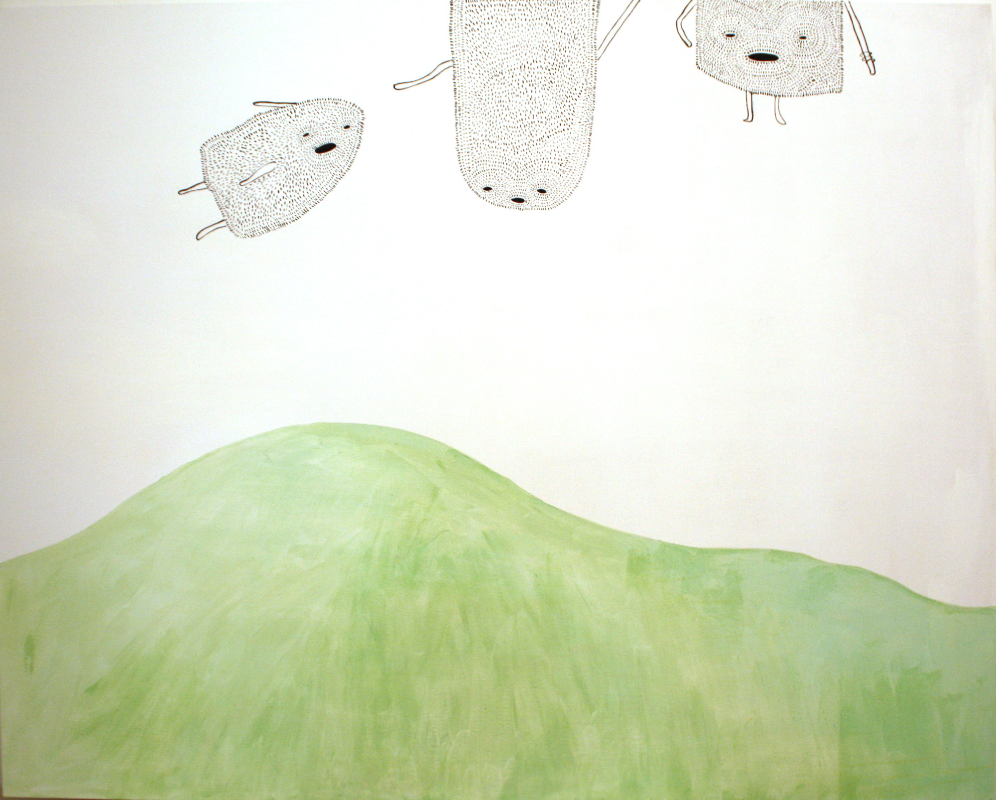 S/T, 2011, técnica mixta sobre lienzo, 130 x 162 cm.