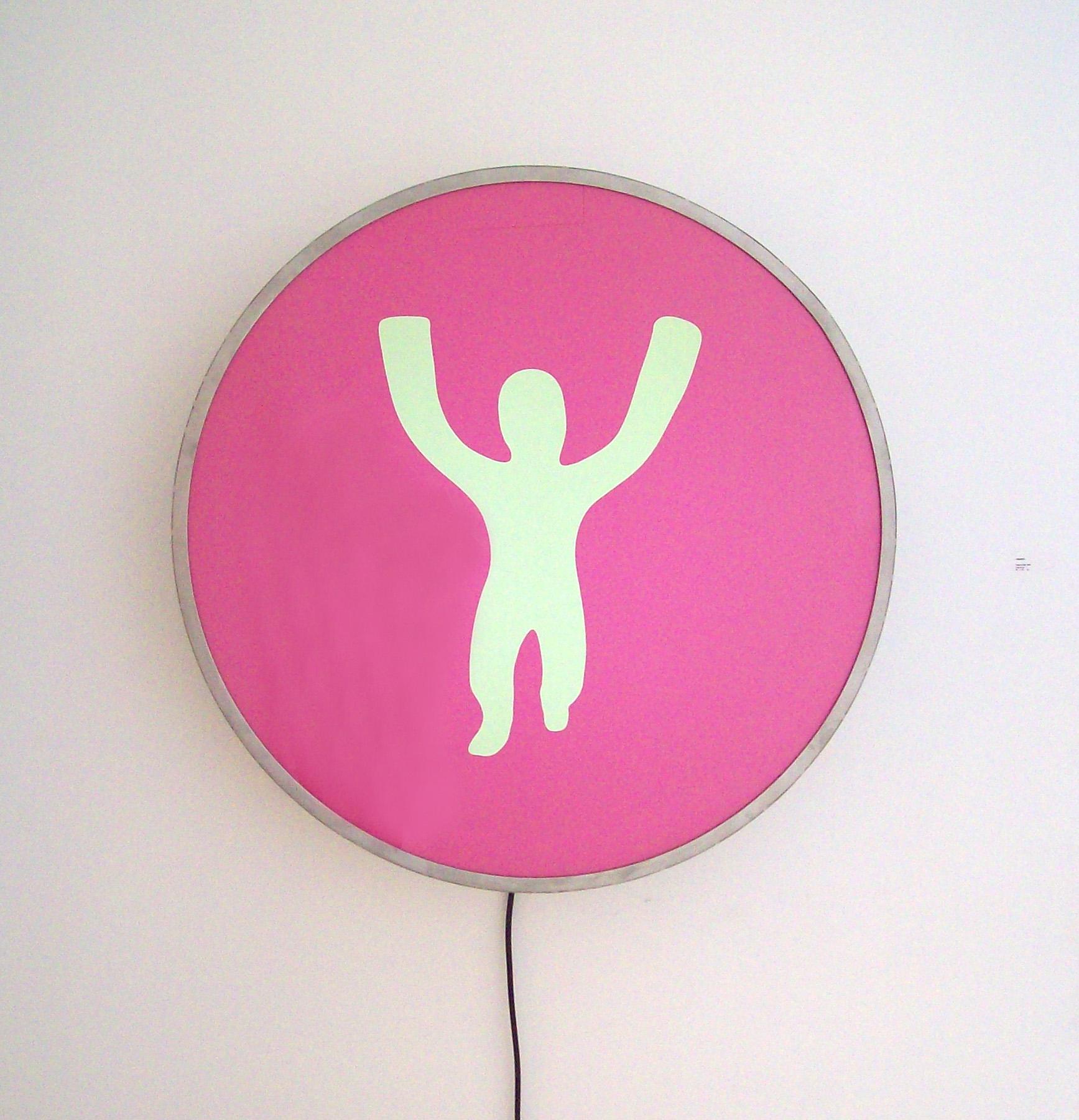 Charco child, 2008, caja de luz, 96 x 96 x 12 cm