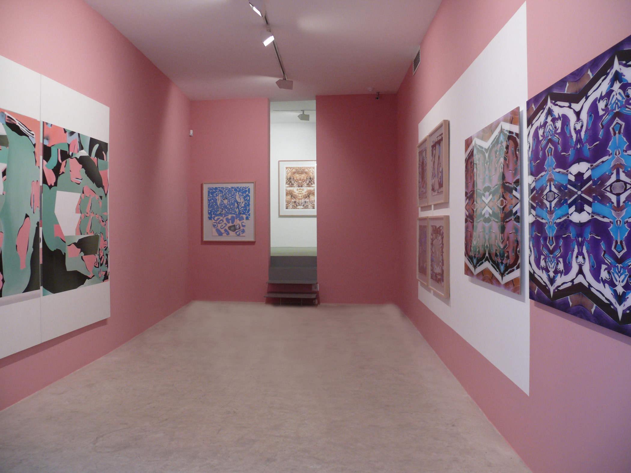 Exhibition view from Luis Gordillo, 2007