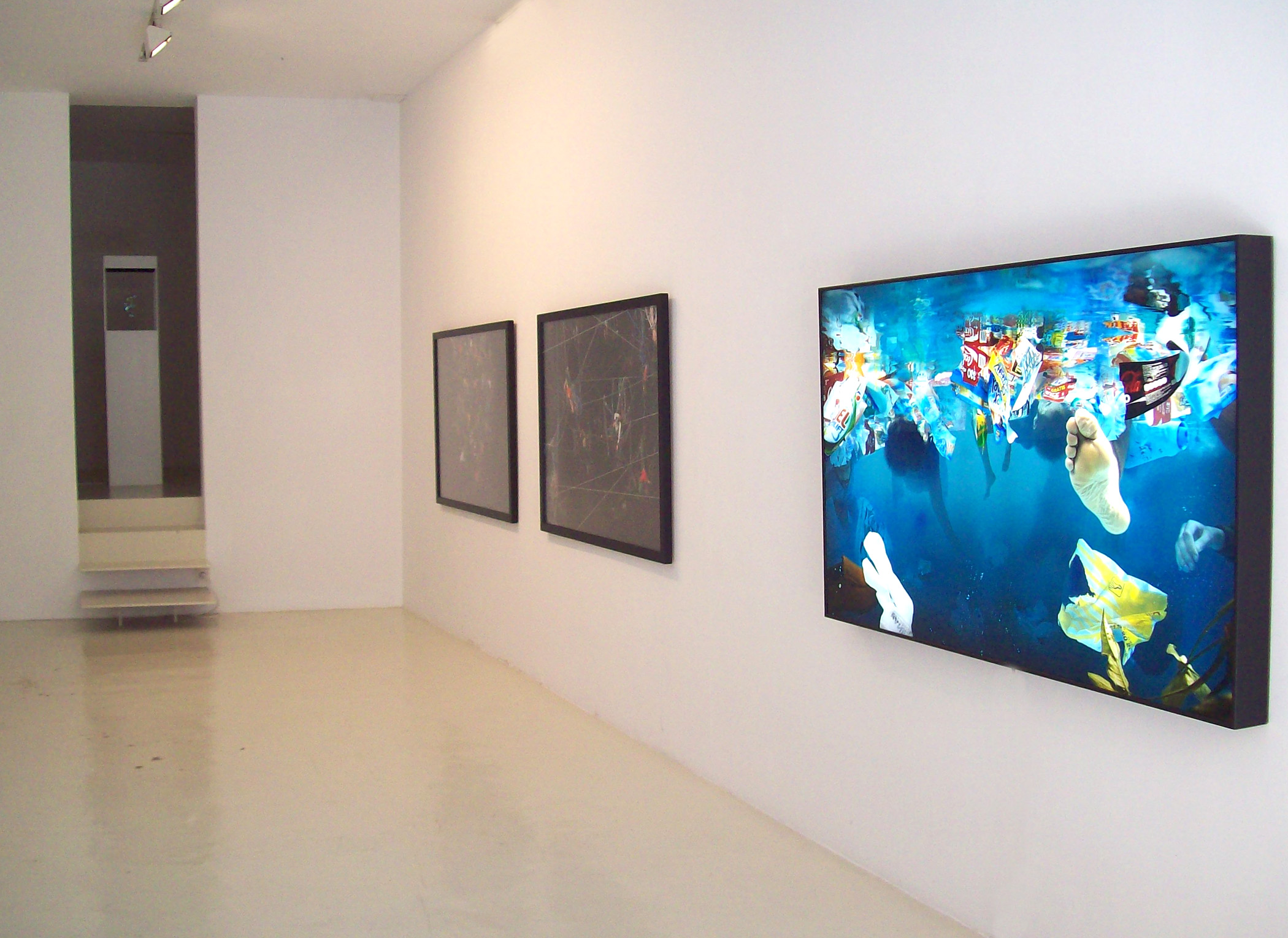 Exhibition view from Daniel Canogar, 2011