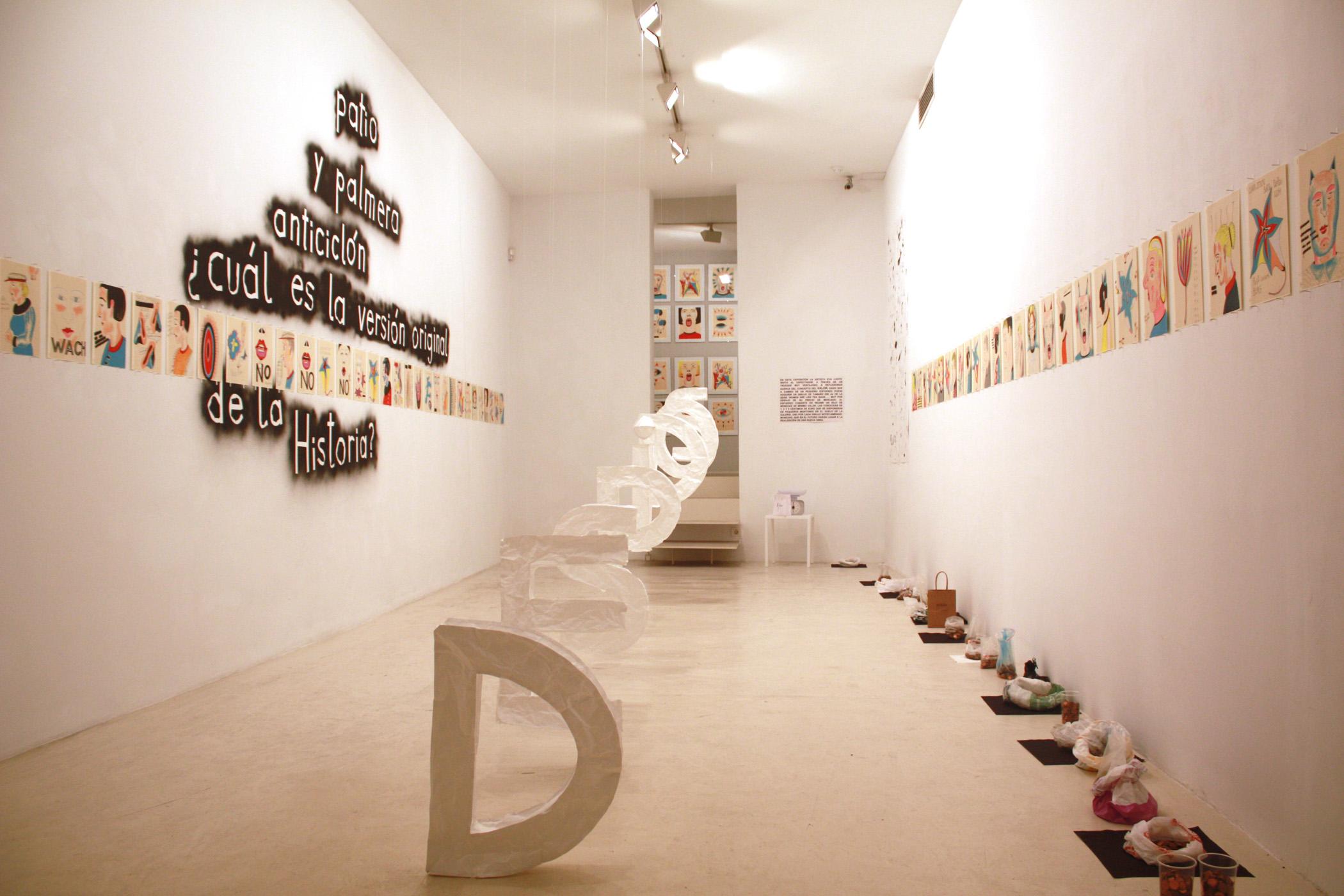 Vista de la exposición de Eva Lootz, 2013