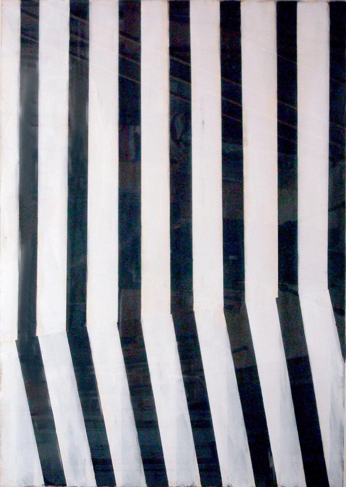S/T, 1997, técnica mixta sobre papel, 159 x 113 cm.