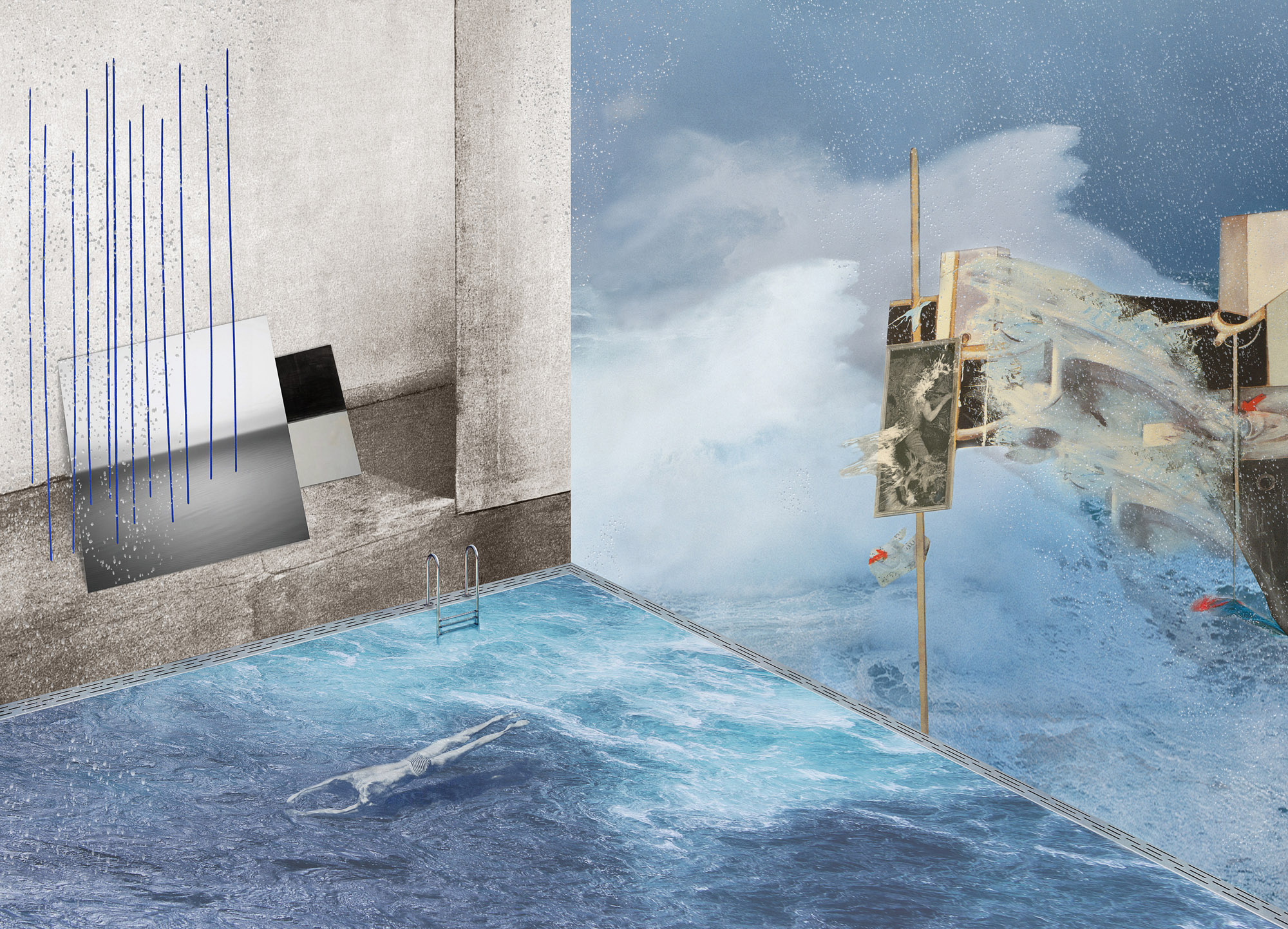 Wasser, 2014, C-print, 180 x 250 cm.
