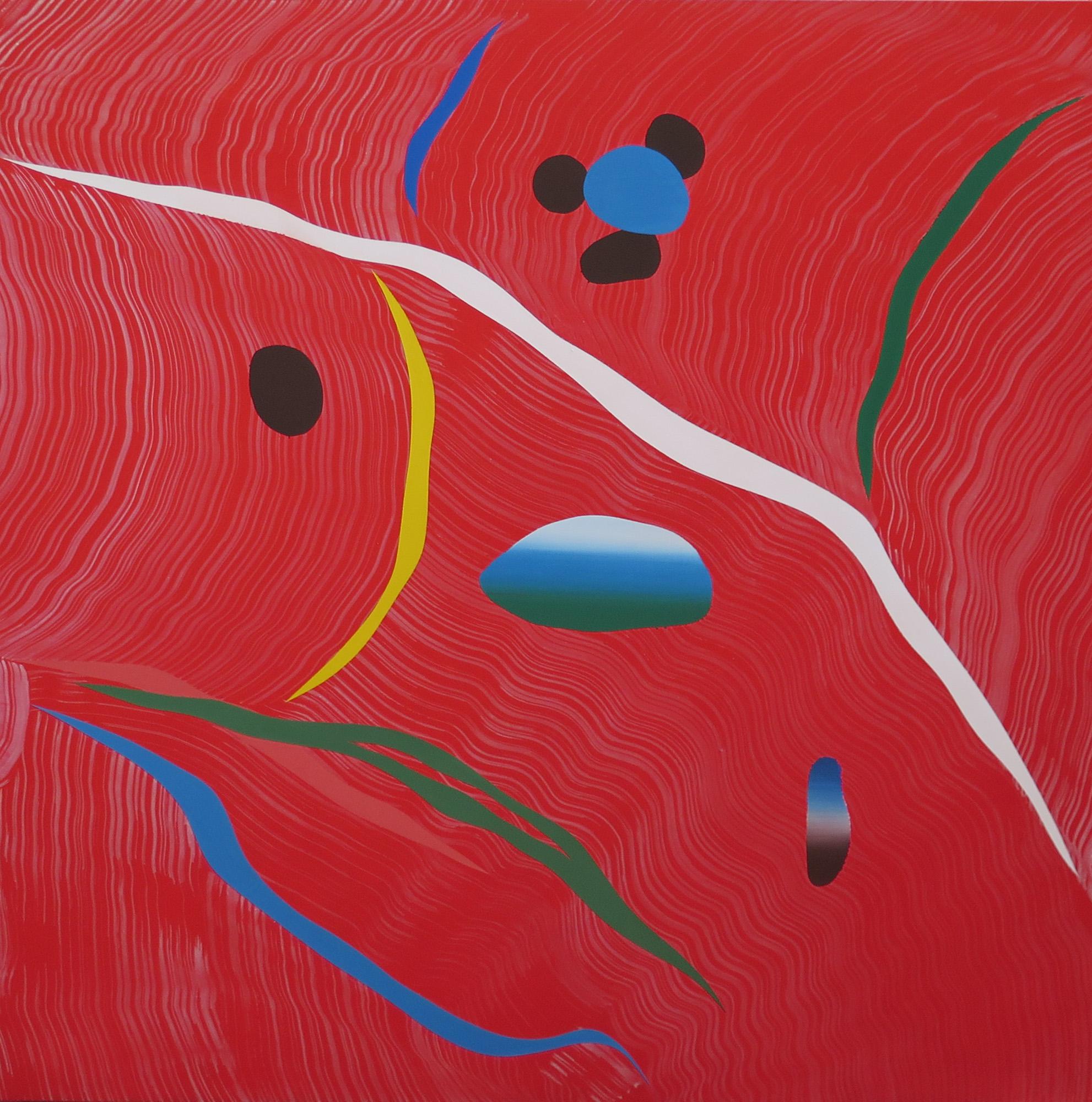 Mundos 15, (215032), 2015. Acrílico sobre lienzo, 150 x 150 cm.