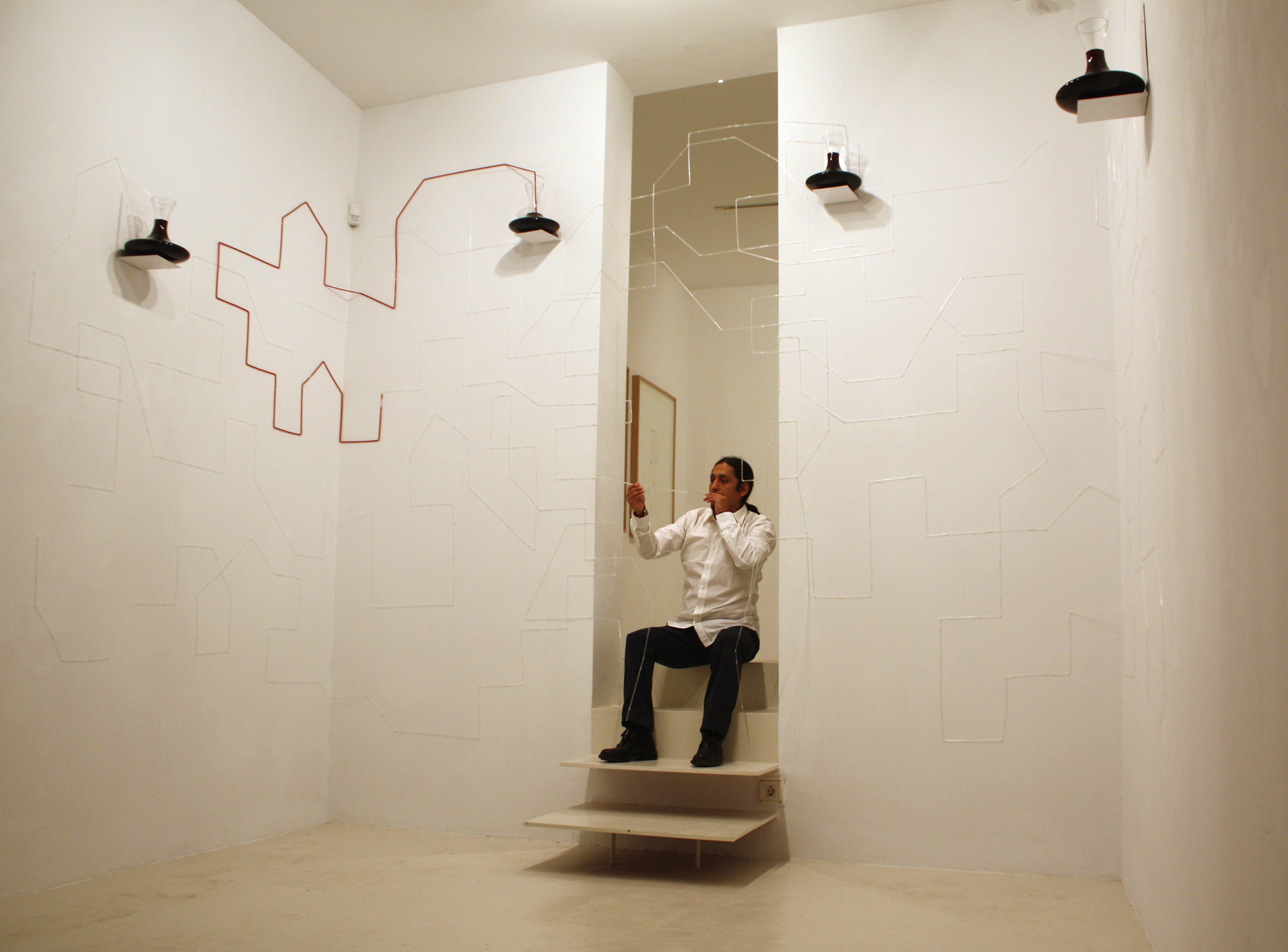 Performance and installation The flow of thought, Palma 2011