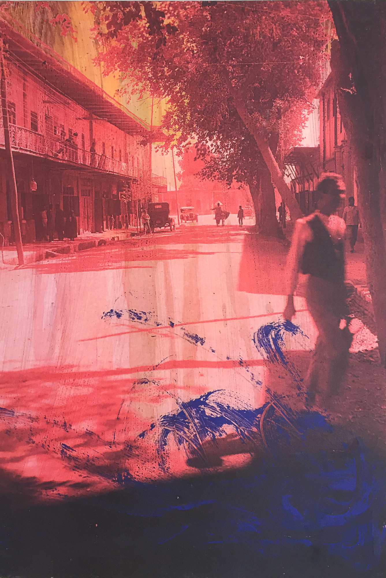 Retroprojection Panneau #4, edic 12, 2016, impresión sobre tela, 150 x 100 cm.
